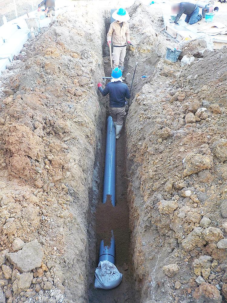 VUφ200排水本管布設状況